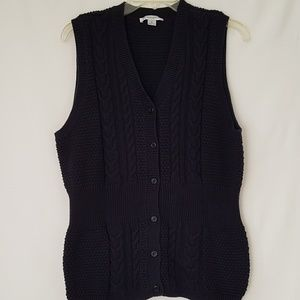 Other - Men's Pendleton Button Up Navy Sweater Vest XL